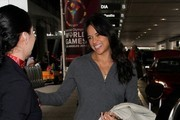 Michelle Rodriguez Arrives at LAX