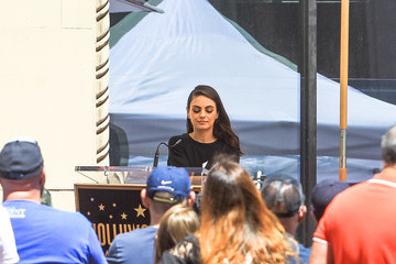 Mila Kunis Mila Kunis Outside The Hollywood Walk Of Fame Star Ceremony For Seth MacFarlane