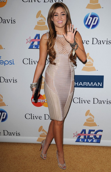 Miley Cyrus Clive Davis' 2011 Pre-GRAMMY Gala.Beverly Hilton Hotel, Beverly Hills, CA.February 12, 2011.