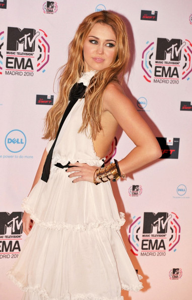Miley Cyrus The 2010 MTV European Video Awards.