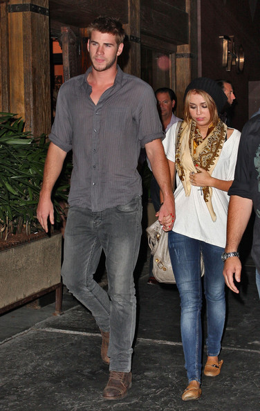 Liam+Hemsworth in Miley Cyrus and Liam Hemsworth Out and About