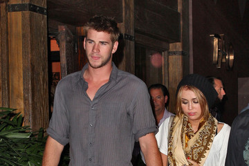 Miley Cyrus Liam Hemsworth Miley Cyrus and Liam Hemsworth Out and About