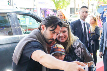 Milo Ventimiglia Sterling K. Brown outside Mandy Moore Hollywood Walk Of Fame Star Ceremony