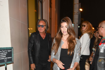 Mohamed Hadid Mohamed Hadid and Shiva Safai at 'Catch' Restaurant