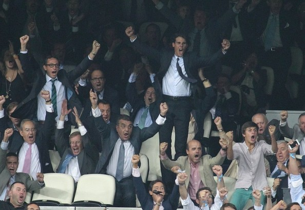 Rafael Nadal Cheers at a Soccer Match