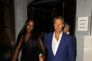 Naomi Campbell hosts a charity dinner at Down Town Mayfair restaurant and bar.