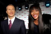 ***NO CANADA RIGHTS***.Naomi Campbell attends the Moscow City Tower Presentation with her longtime partner Vladislav Doronin.