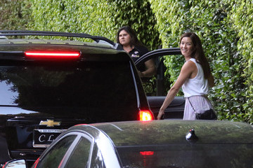 Naomi Nelson Guests Arrive at Charlize Theron's 40th Birthday Party