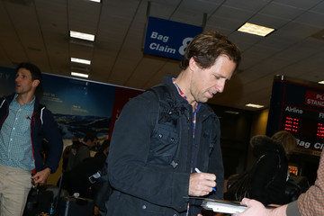 Nat Faxon Celebrities at the Salt Lake City Airport