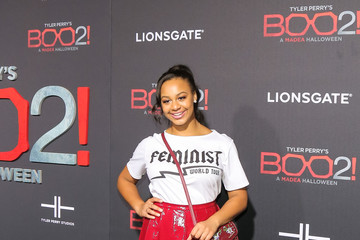 Nia Sioux Premiere of Lionsgate's 'Tyler Perry's Boo 2! A Madea Halloween'
