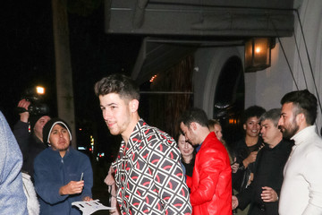 Nick Jonas Kevin Jonas Hits Craig's Restaurant In West Hollywood