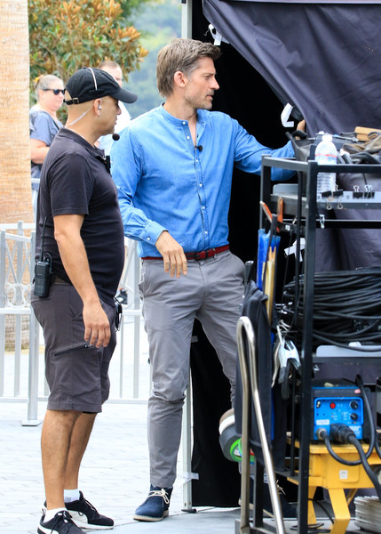 Nikolaj Coster-Waldau Is Seen on the Set of 'Extra'