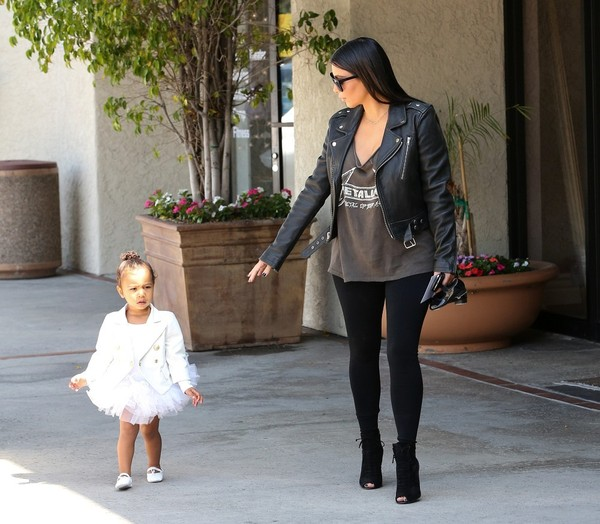 Kim Kardashian and North West Go to Ballet Class