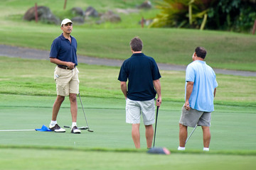Barack Obama Barack Obama Golf at the Mid-Pacific Country Club