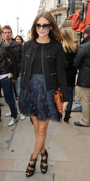 Olivia Palermo Guests arrive at the Julien McDonald Spring/Summer 2011 collection show for London Fashion Week.