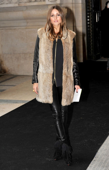 Olivia Palermo - Celebs Arrive at the Armani Show in Paris