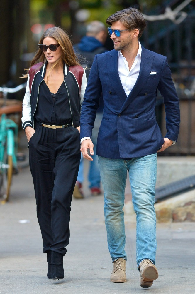 Olivia Palermo and Johannes Huebl in the West Village