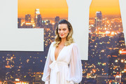Margot Robbie is seen attending Sony Pictures' 'Once Upon a Time in Hollywood' Los Angeles Premiere in Los Angeles, California.