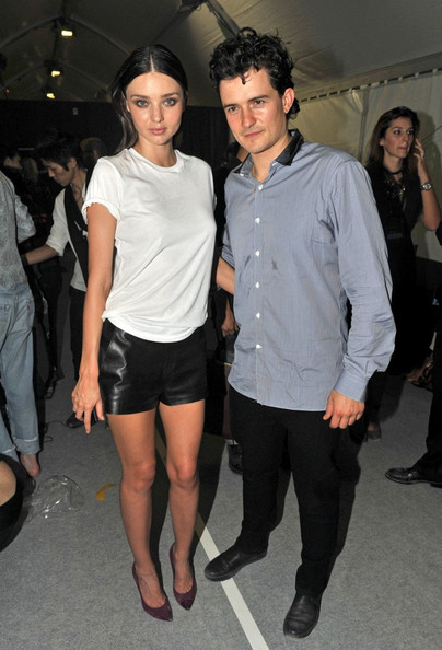 Orlando Bloom Attendees come and go for the Lanvin Spring/Summer 2012 Ready-to-Wear show during Paris Fashion Week.
