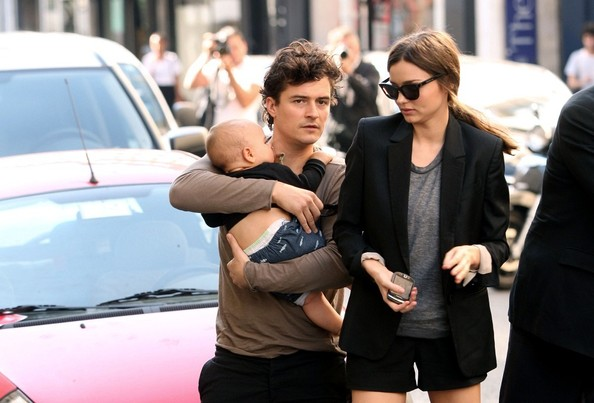 Orlando Bloom Miranda Kerr, Orlando Bloom and their son Flynn (b. January 6, 2011) in Paris.