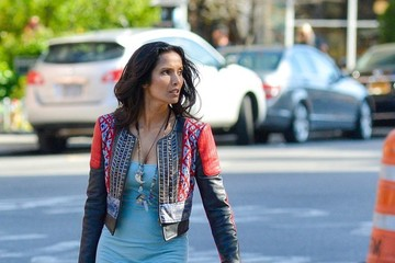 Padma Lakshmi Padma Lakshmi Walks in the West Village