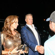 Paige Green John Elway Outside Craig's Restaurant In West Hollywood