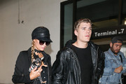 Paris Hilton and Chris Zylka Are Seen at LAX