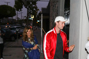 Patrick Schwarzenegger And Maria Shriver Outside Craig's Restaurant In West Hollywood