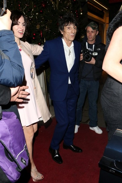 Ronnie Wood and New Wife at the Dorchester Hotel 3