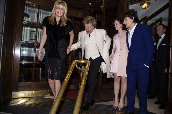 Ronnie Wood and New Wife at the Dorchester Hotel 2
