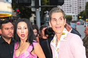 Perry Farrell and Etty Lau Farrell are seen outside 'Andy Iron's Kissed By God' World Premiere at Regency Village Theatre in Los Angeles, California.