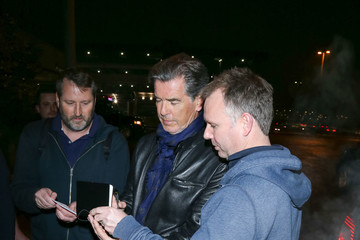 Pierce Brosnan Celebrities at the Salt Lake City Airport