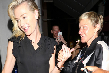 Portia de Rossi Ellen Degeneres And Portia de Rossi Outside Craig's Restaurant In West Hollywood