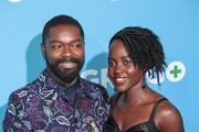 David Oyelowo and Lupita Nyong'o are seen arriving for the Premiere of Amazon Studios And STX Films' 'Gringo' held at Regal LA Live Stadium 14 in Los Angeles, California.