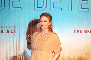 Mamie Gummer is seen arriving at the Premiere Of HBO's 'True Detective' Season 3 at Directors Guild Of America in Los Angeles, California.