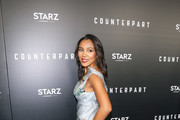 Rachel Kylian is seen attending the premiere of Starz's 'Counterpart' at Directors Guild of America in Los Angeles, California.