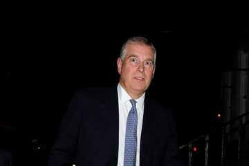 Prince Andrew Celebs Grab Dinner in Mayfair