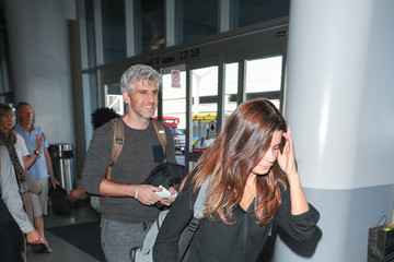 Priscila Joseph Max Joseph Departing at LAX Airport