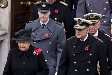 Queen Elizabeth II Remembrance Service at The Cenotaph