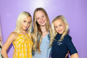 Kameron Couch, Katie Couch and MacKenzie Couch are seen attending Radio DisneyÕs DJ Lela B Birthday Party and Cosmetic Launch at Petpop in Los Angeles, California.
