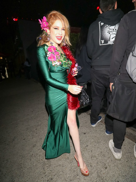 Renee Olstead Is Seen Outside The Just Jared Halloween Party At Goya Studios