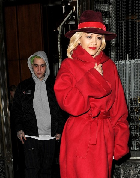 Rita Ora and boyfriend Ricky Hilfiger dinner date at Mr Chow after Charlotte Simone x Kyle De'volle - launch party.