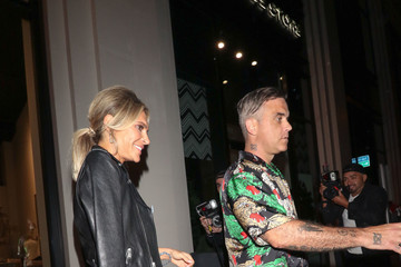 Robbie Williams Robbie Williams Outside Catch Restaurant In West Hollywood