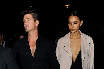 Robin Thicke Celebs Attend a Boat Party