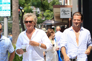 Rod Stewart Sean Stewart Rod Stewart and Sean Stewart Hang out in Beverly Hills