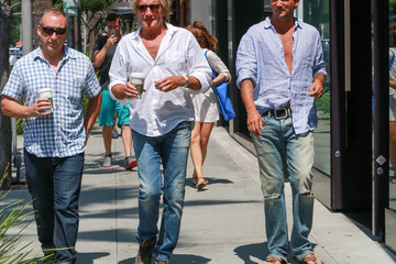 Rod Stewart Sean Stewart Rod and Sean Stewart Stroll in Beverly Hills