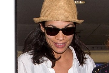 Rosario Dawson Rosario Dawson Arrives at LAX