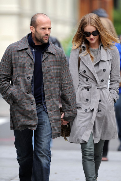 Jason Statham and Rosie Huntington-Whiteley Walk Around Manhattan