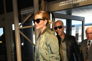 Rosie Huntington-Whiteley Rosie Huntington Whiteley and Jason Statham Spotted at LAX