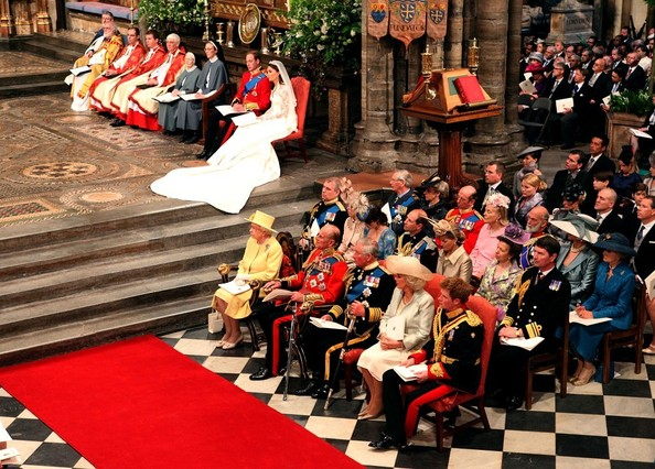 The royal wedding of Prince William and Catherine Middleton held at Westminster Abbey.